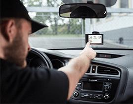 Komunikace s řidičem navigace Garmin