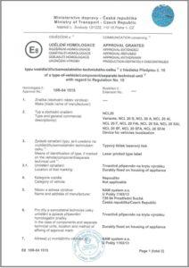 Certifikát schválení E8