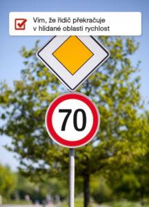 Zóny - kontrola rychlosti