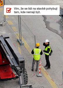 Zóny kontrola pohybu osob na staveništi ONI system
