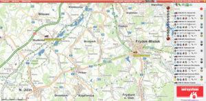 Zobrazení jízd vozidel v mapě ONI system
