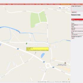 Uživatelská místa v mapě
