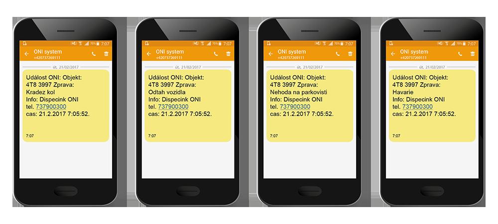 Upozornění SMS notifikace