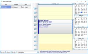 Rezervace vozidla - záznam v kalendáři
