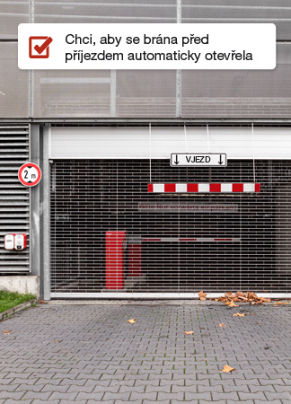Zóny automatické otevírání brány