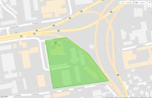 Detailní zobrazení zóny na mapách Google