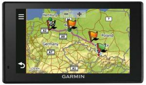 Garmin zobrazeni naplanované trasy a bodu v mape