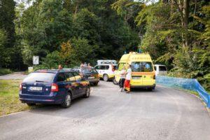 Záchranáři a záchranné vozy