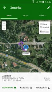 poloha sledovane osoby satelit