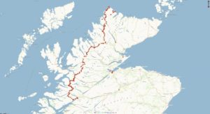 Cape Wrath Trail s trackerem NCL 21